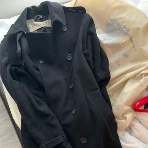 Burberry Brit Wool Coat Large Black